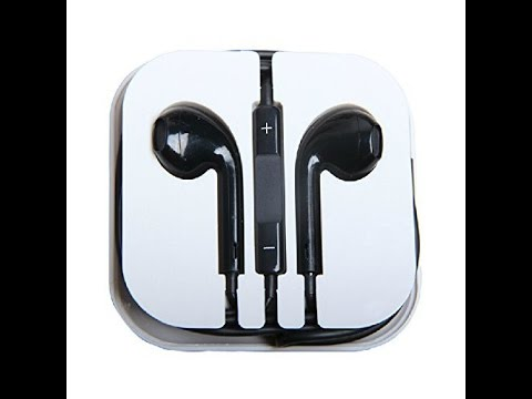 Earphones with microphone apple black - apple earphones color