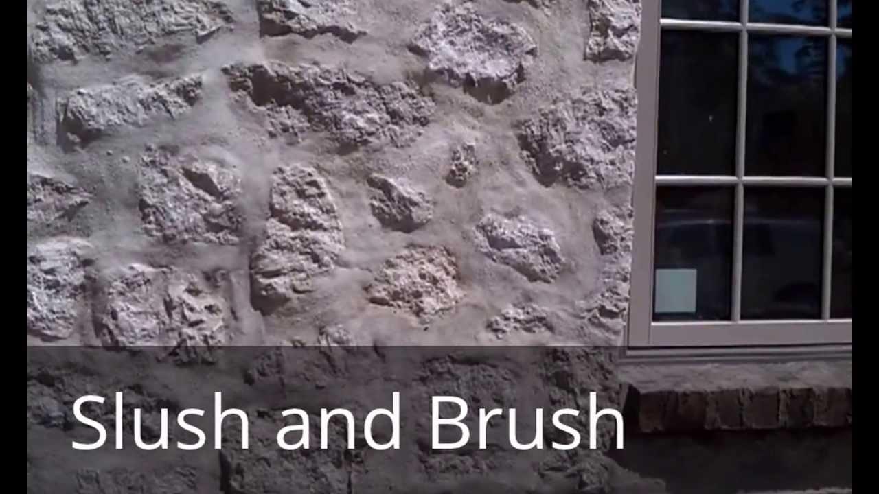 Slush And Brush Stone Wall Construction Technique To Make