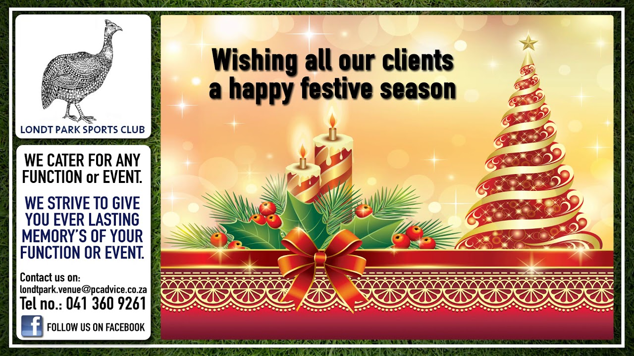 Londt Park Christmas Msg Dec 17 - YouTube