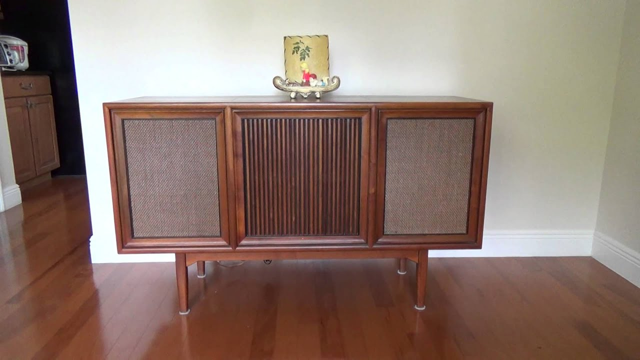 1964 Motorola Record Player Console   YouTube