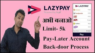 How to Make Lazy-pay Account by the Back Door??