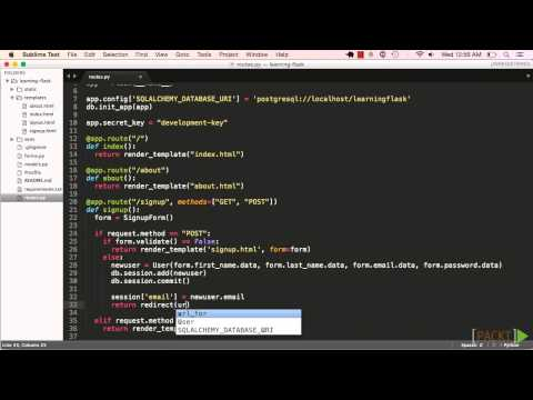 Learning Flask: Sessions   packtpub com - YouTube