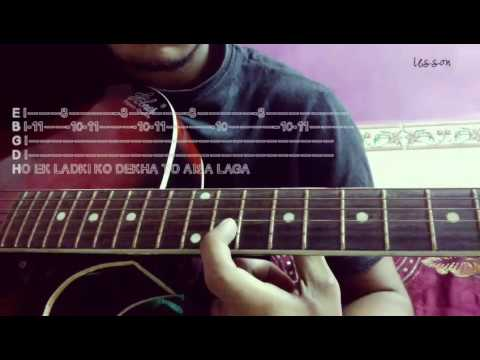 Guitar pehla nasha guitar tabs lesson : ek ladki ko dekha to aisa laga guitar tabs / lesson.. - YouTube