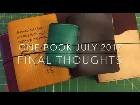 One Book July 2017 Final Thoughts