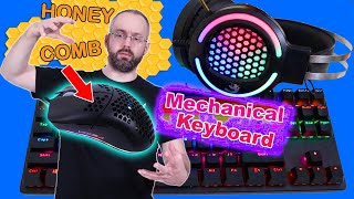 Felicon 4 In 1 Gaming Keyboard Mouse Headset Combo Bundle Set Unboxing and Review