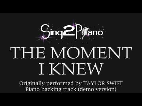 The Moment I Knew - Taylor Swift (Piano backing track) cover
