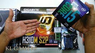 intel Core i5 8400 GIGABYTE H310M S2P 4GB DDR4 450W LITEPOWER Average PC DIY Build 2019