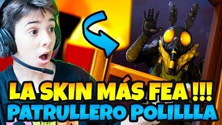 BUYING THE MOST FEA SKIN OF *FORTNITE PATRULLERO POLILLA LIVE WITH HUGO MARKER
