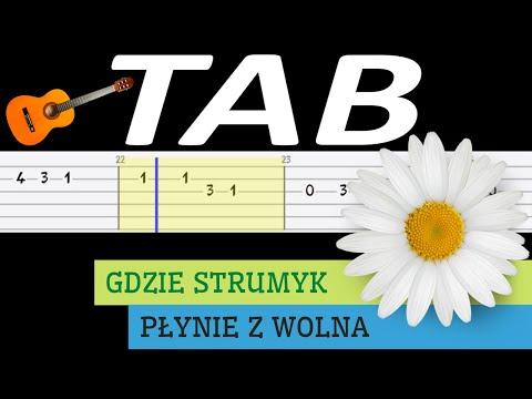 🎸 Gdzie strumyk płynie z wolna (Stokrotka) - melodia TAB (gitara) 🎸