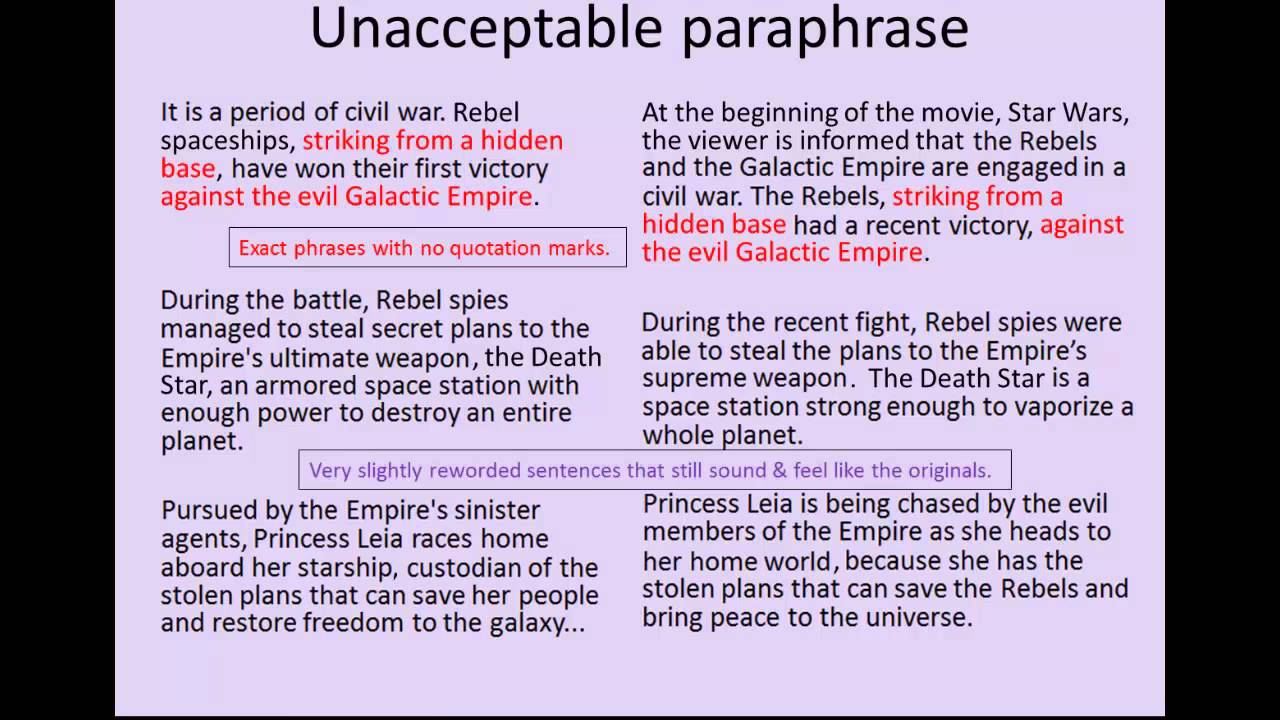 Summarizing and paraphrasing youtube