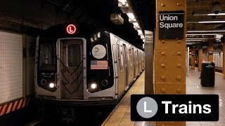 NYC Subway: (L) Train Action in Williamsburg and Manhattan