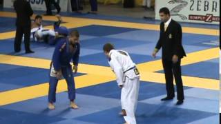 Matthew Meyer (Soul Fighters) Ankle Pick vs Gustavo Batista (Cicero Costha) at the 2015 IBJJF Pans
