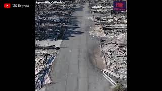 Mobile homes destroyed by Southern California wildfire