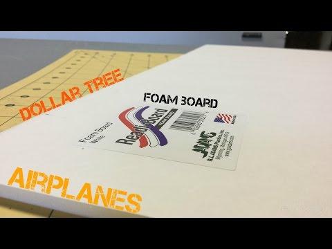 Dollar Tree Foam Board Airplanes   Touch N Go RC