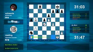 Chess Game Analysis: rzading - volvecris : 0-1 (By ChessFriends.com)