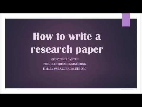 How to write research paper - Full course
