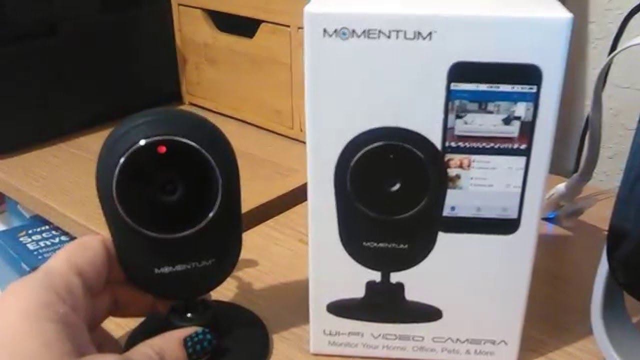 wi fi video surveillance camera by momentum review youtube. Black Bedroom Furniture Sets. Home Design Ideas
