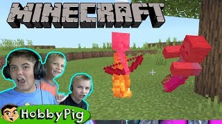 HobbyPig hunts for a Pillager Fortress in Minecraft