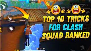 Top 10 Clash Squad Ranked Tricks || Free Fire Tricks Tamil