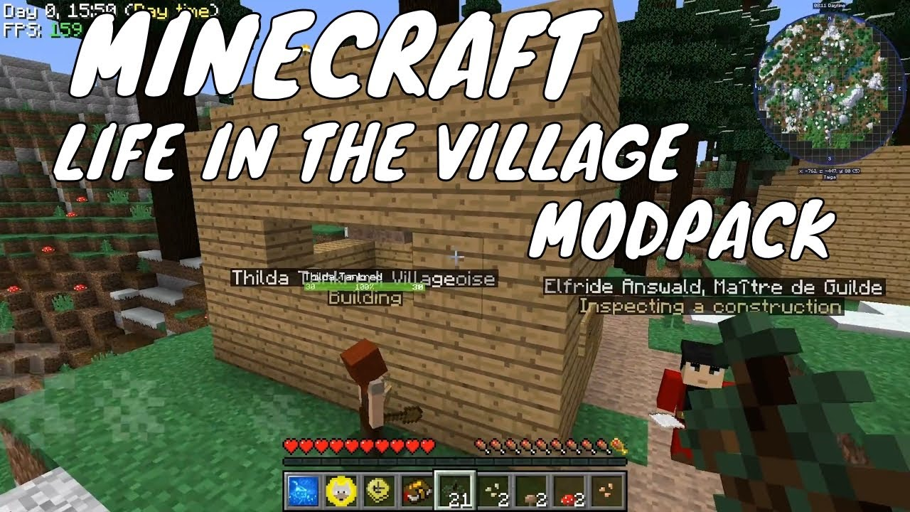 Minecraft Life in the village modpack - Automated village - Minecraft  villager mod