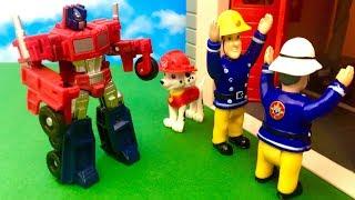 Strażak Sam i Psi Patrol ♦ Transformers atakuje ♦ Bajka dla dzieci PO POLSKU