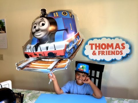 Big Thomas the Tank Engine of Thomas and Friends flying Up, Percy Hat and More