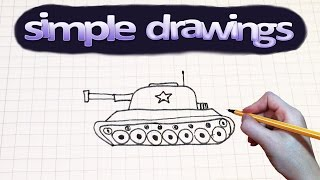 Simple drawings #49 How to draw tank
