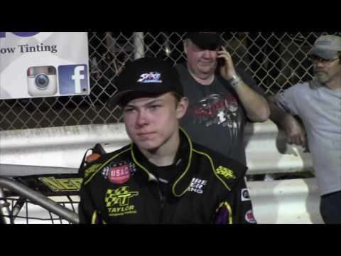 Williams Grove Speedway USAC Silver Crown Driver Interviews 06-10-16