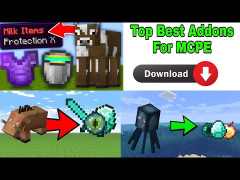 TOP 5 BEST ADDON FOR MCPE MINECRAFT BUT TOP 5 MODS FOR PE Minecraft Top 5 Addon for pe Top 5 Addon