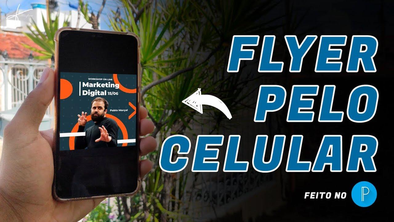 Como Fazer Flyer de Marketing Digital pelo Celular com o PixelLab