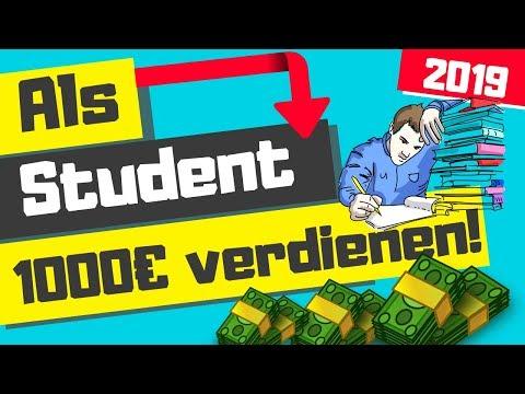 Als Student Geld verdienen 2019 / Schnell Geld verdienen 1000 Euro und mehr!