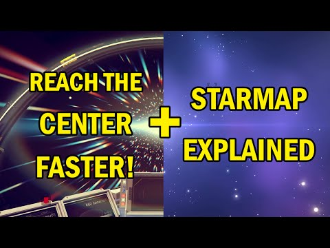No Man's Sky: How To Get To The Center FAST! (Find Black Holes) + Star map Star Colors Explained!