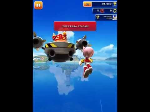 [Sonic Dash] (GAME). Sonic Dash.   Amy  VS  Dr Eggman