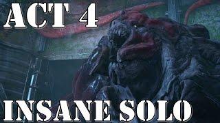 Gears of War 4 – Act 4 (Chapter 1, 2, 3) – INSANE SOLO Walkthrough Playthrough [Carrier Boss]