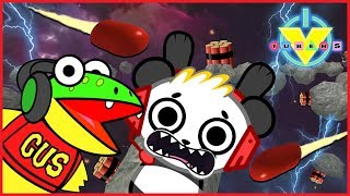 Roblox Epic minigames ESCAPE BLACK HOLE VTubers Let's Play Combo Panda Vs Gus