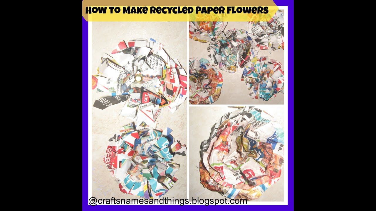 Diy recycled paper flowers how to make recycled paper flowersjunk diy recycled paper flowers how to make recycled paper flowersjunk flowers tutorial mightylinksfo
