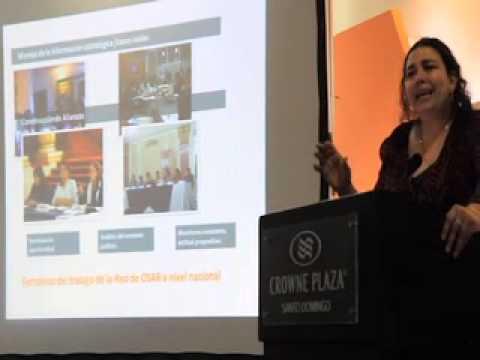 Conferencia  Mirna Montenegro, directora del Observatorio de Salud Reproductiva de Guatemala