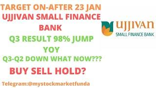 UJJIVAN SMALL FINANCE BANK SHARE LATEST NEWS | Q3 JUMP YOY| Q3 RESULT ANALYSIS | TARGET AFTER 22 JAN