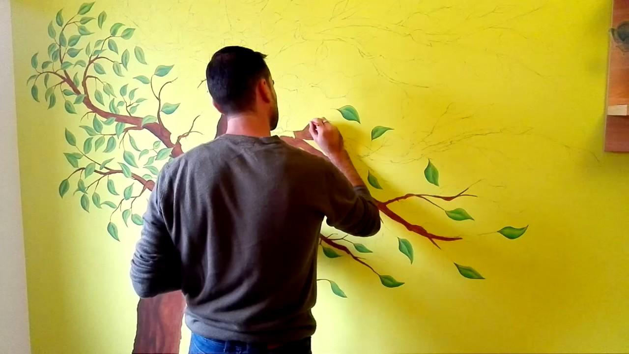 Dipingiamo Un Albero Nella Cameretta Youtube