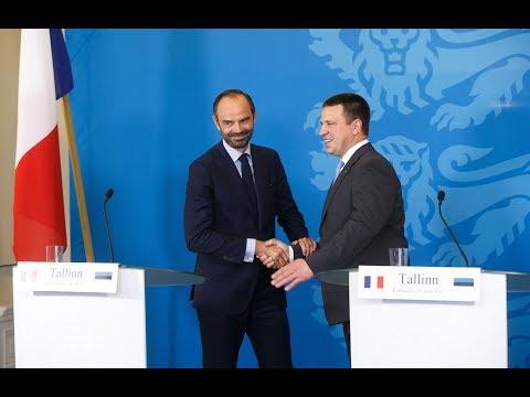 Jüri Ratase ja Prantsusmaa peaministri Eduoard Philippe ühine pressikonverents