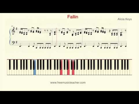 How To Play Piano: Alicia Keys  Fallin Piano Tutorial  Ramin Yousefi