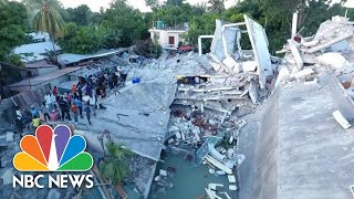 Watch: Drone Video Captures Damage From Deadly Haiti Earthquake