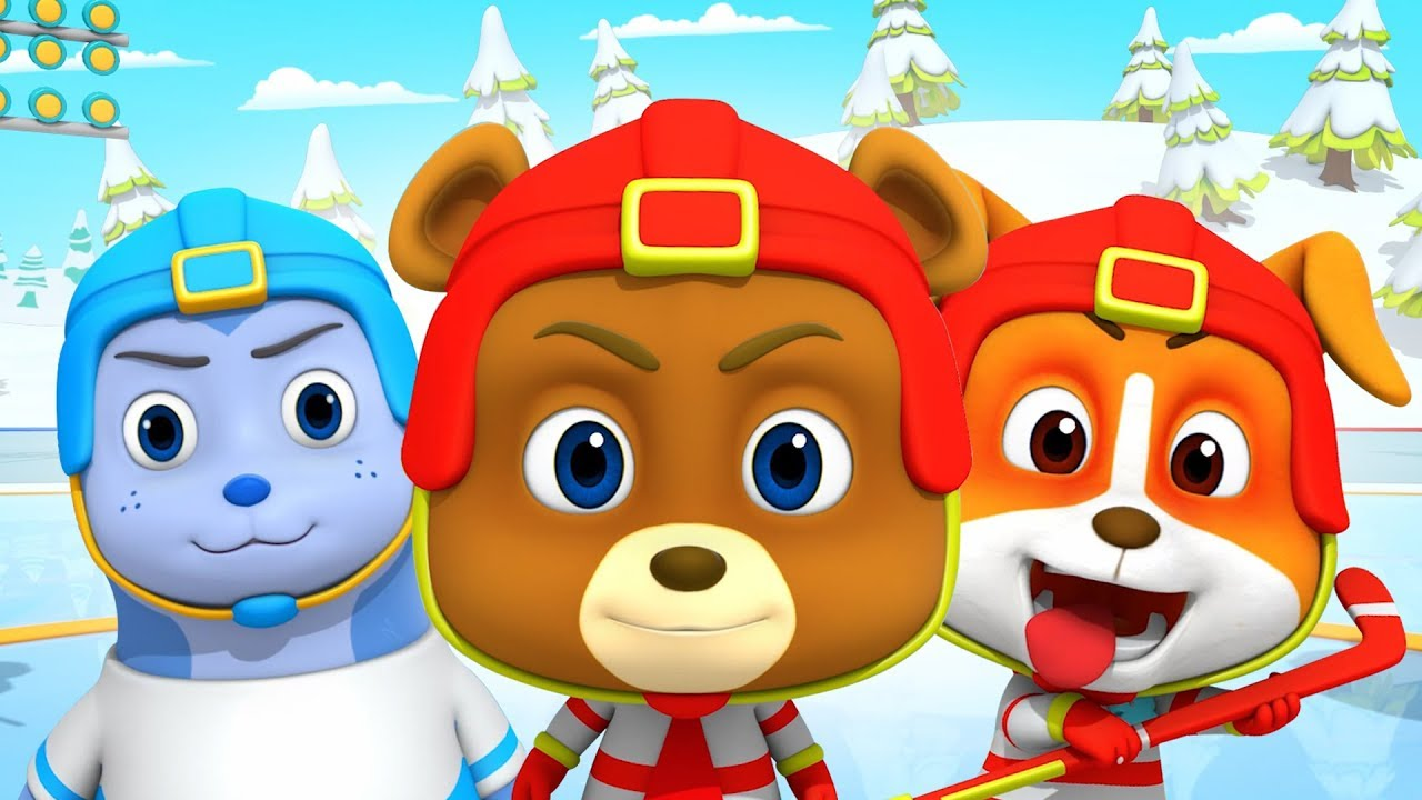 Ice Hockey Cartoons For Kids Children Fun Videos With Loco Nuts Youtube
