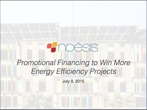 Promotional Financing for Energy Efficiency Projects