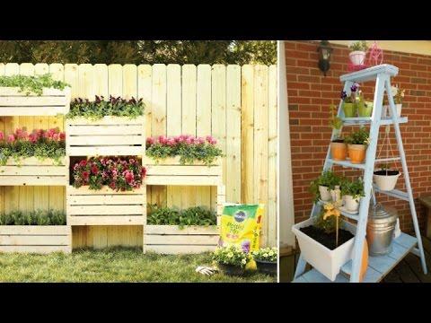 Como hacer un jardin vertical casero y economico youtube for Ideas para decorar un jardin economico