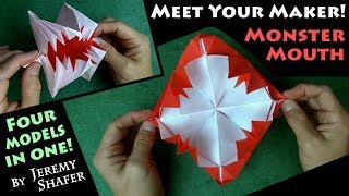Origami MEET YOUR MAKER! Monster Mouth - 4 Models in 1!