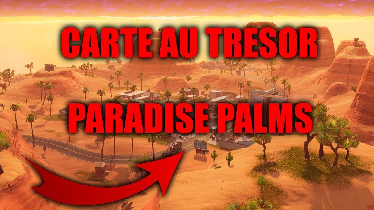 chercher le panneau de carte au trésor DEFI] CHERCHER LE PANNEAU CARTE AU TRESOR A PARADISE PALMS