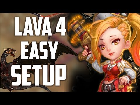 Castle Clash : Lava 4 Easy Setup With 3 Gunslinger