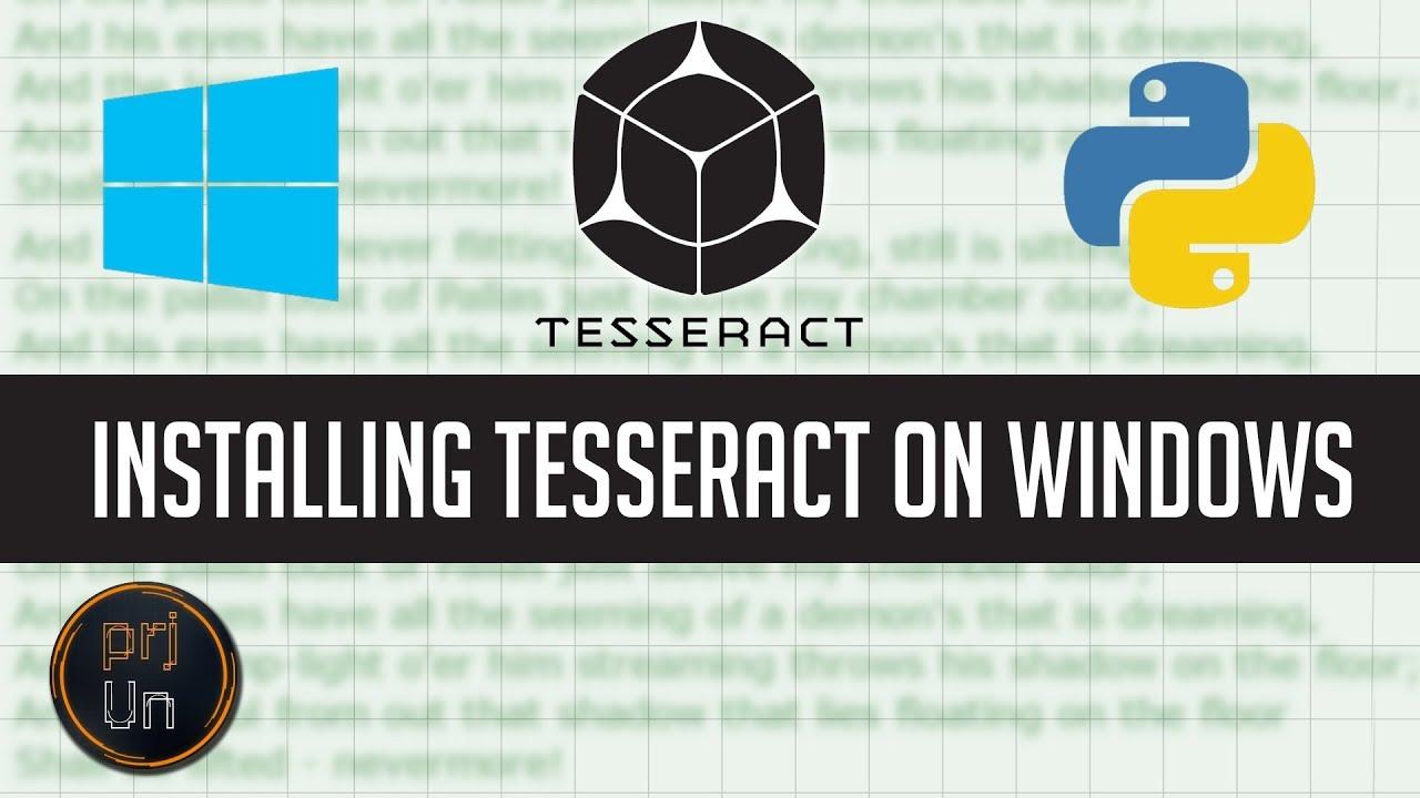 Installing Tesseract on Windows