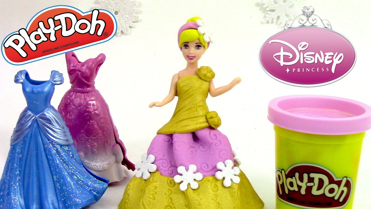 play doh magiclip disney princesse p 226 te 224 modeler cendrillon poup 233 e plastilina